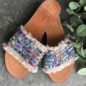🆕 Kate Spade Jeweled Leather Slides